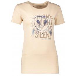 Dámské tričko s krátkým rukávem ALPINE PRO UNEGA 4 LTSL270 BÉŽOVÁ