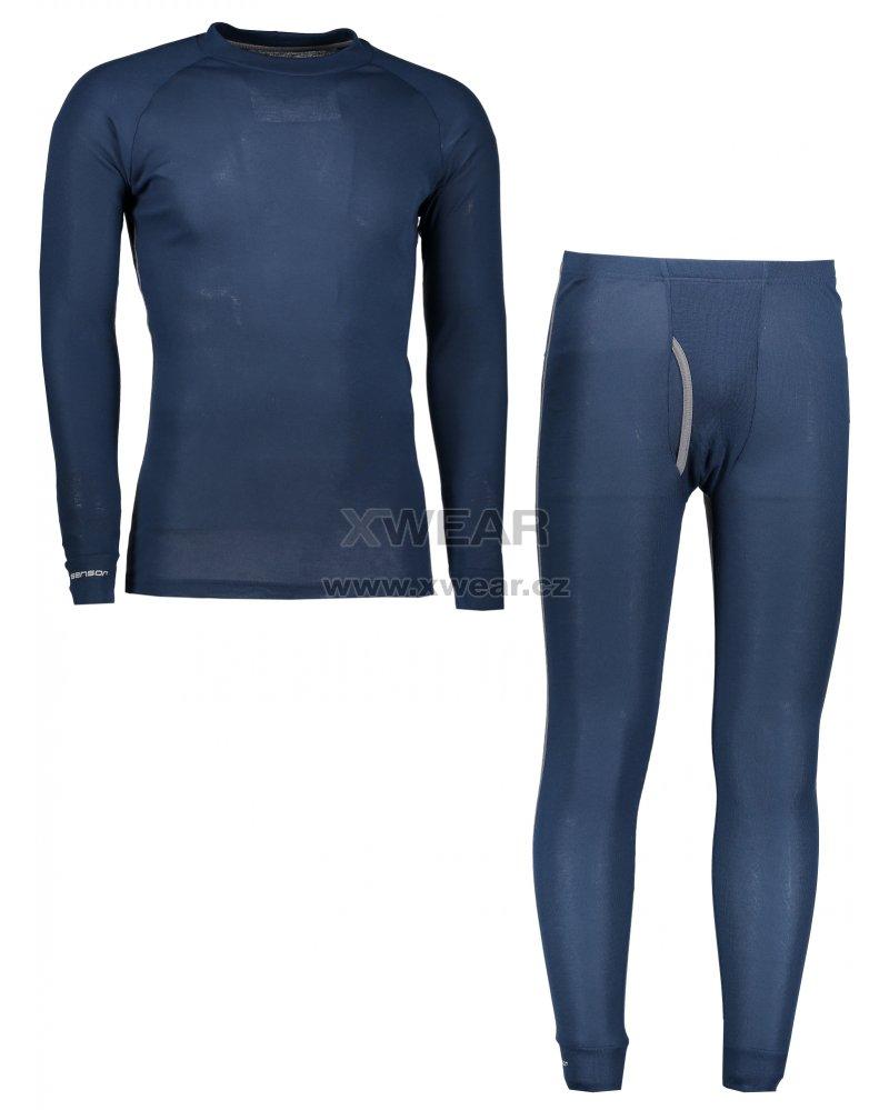 9fff8859746 Akční set pánské termo triko s dlouhým rukávem + spodky SENSOR ORIGINAL  ACTIVE SET 17200051 TMAVĚ