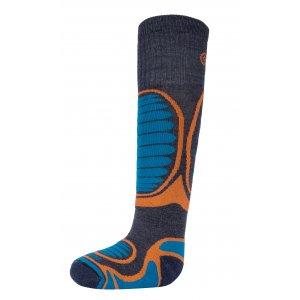 Dětské lyžařské ponožky KILPI ANXO-J HJ0060KI ORANŽOVÁ
