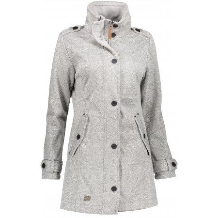 Dámský softshellový kabát NORDBLANC PALATIAL NBWSL6598 SVĚTLE ŠEDÁ