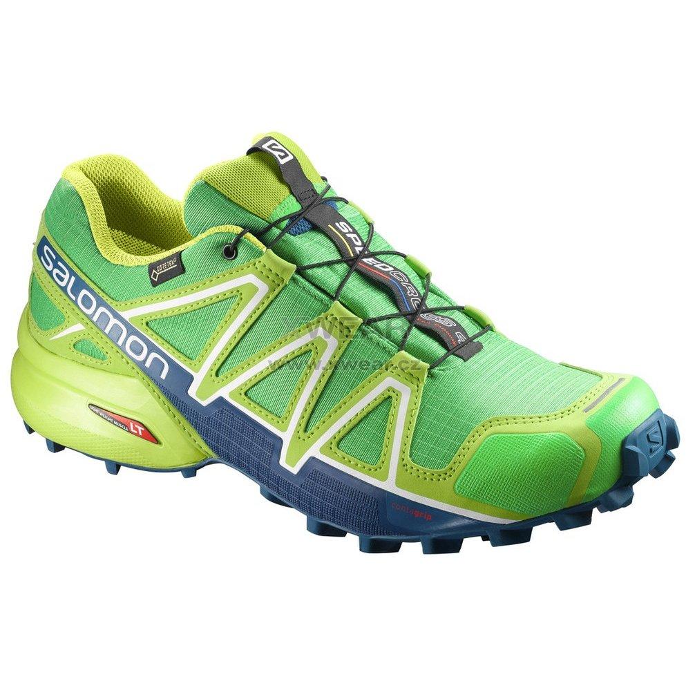 Pánské běžecké boty SALOMON SPEEDCROSS 4 GTX® L39843000 CLASSIC GREEN LIME  GREEN POSEIDON c592aaa1ce