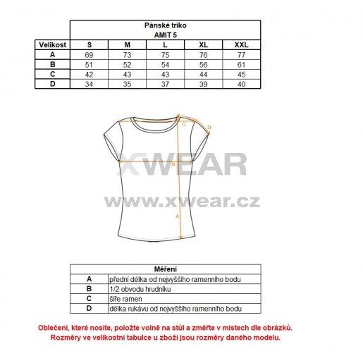 Pánské triko s krátkým rukávem ALPINE PRO AMIT 5 MTSL261 MODRÁ