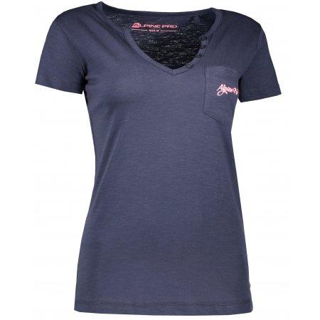 Dámské triko s krátkým rukávem ALPINE PRO ROPERA 2 LTSL284 TMAVĚ MODRÁ