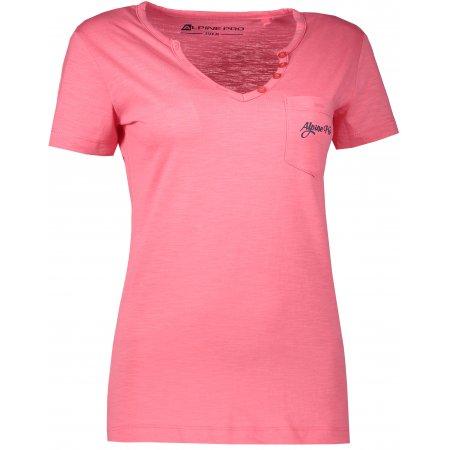 Dámské triko s krátkým rukávem ALPINE PRO ROPERA 2 LTSL284 SVĚTLE RŮŽOVÁ