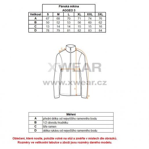 Pánská mikina ALPINE PRO AGGEO 3 MSWL135 ČERNÁ