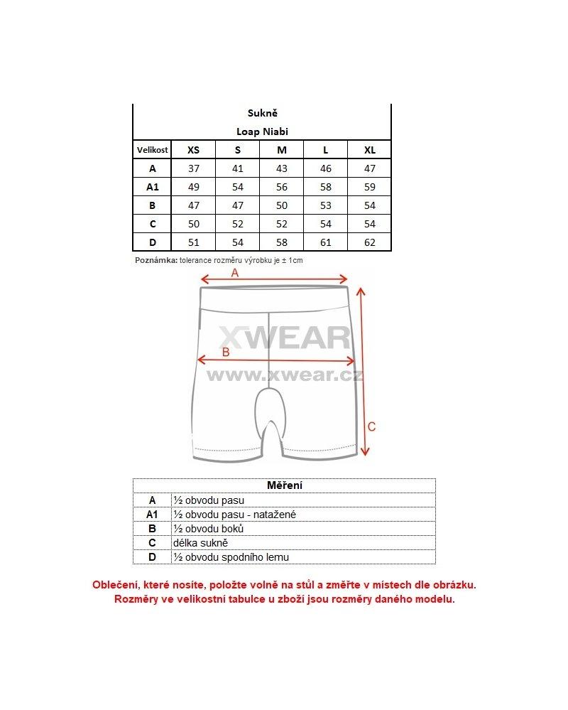 3418961ff41 Dámská sukně LOAP NIABI CLW1893 MODRÁ velikost  XS   XWEAR.cz