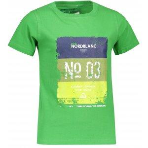 Chlapecké tričko NORDBLANC VARNISH NBSKT6825S TIMMYHO ZELENÁ