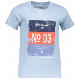 Chlapecké tričko NORDBLANC VARNISH NBSKT6825L MODRÝ SEN