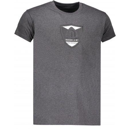 Pánské tričko NORDBLANC CREST NBSMT6814 GRAFITOVÝ MELÍR