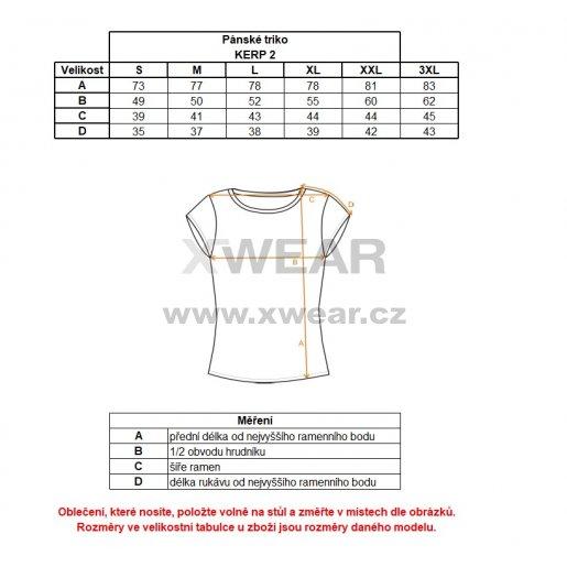 Pánské tričko s krátkým rukávem ALPINE PRO KERP 2 MTSL270 MASKÁČOVÁ