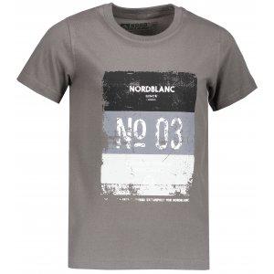 Chlapecké tričko NORDBLANC VARNISH NBSKT6825S ŠEDÝ KOUŘ