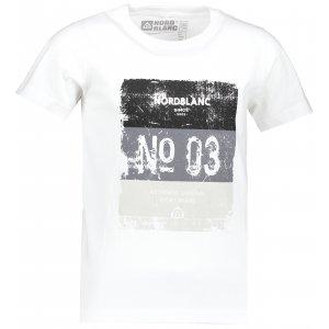 Chlapecké tričko NORDBLANC VARNISH NBSKT6825S BÍLÁ