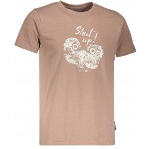 Pánské tričko s krátkým rukávem ALPINE PRO UNEG 5 MTSL255 HNĚDÁ