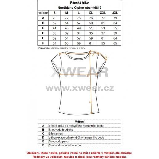 Pánské tričko NORDBLANC CIPHER NBSMT6812 GRAFIT