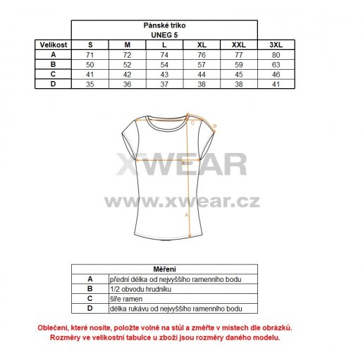 Pánské tričko s krátkým rukávem ALPINE PRO UNEG 5 MTSL255 ČERVENÁ
