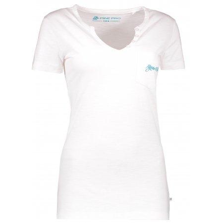 Dámské triko s krátkým rukávem ALPINE PRO ROPERA 2 LTSL284 BÍLÁ