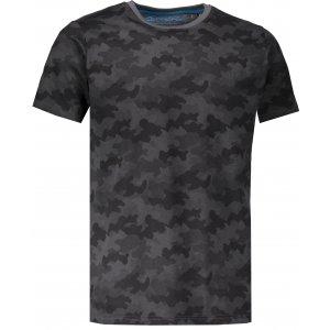 Pánské tričko s krátkým rukávem ALPINE PRO KERP 2 MTSL270 TMAVĚ ŠEDÁ