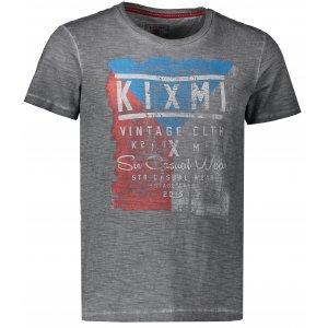 Pánské triko KIXMI ELBERT AAMTS18152 TMAVĚ ŠEDÁ