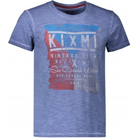 Pánské triko KIXMI ELBERT AAMTS18152 TMAVĚ MODRÁ