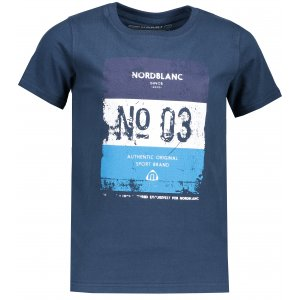 Chlapecké tričko NORDBLANC VARNISH NBSKT6825L MODRÁ HVĚZDA