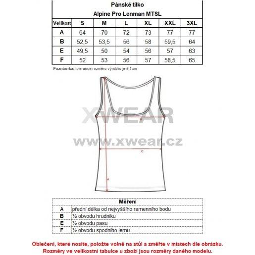 Pánské tílko ALPINE PRO LENMAN MTSL141 TMAVĚ MODRÁ