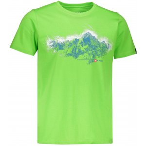 Pánské tričko s krátkým rukávem ALPINE PRO UNEG 5 MTSL255 ZELENÁ