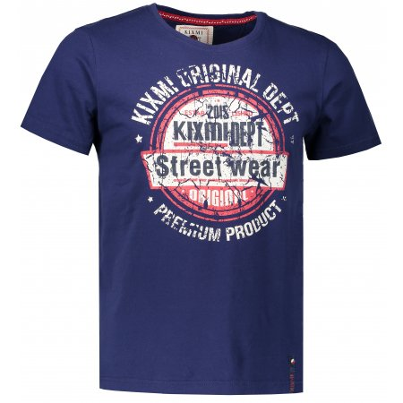 Pánské triko KIXMI EBONIE AAMTS18150 TMAVĚ MODRÁ