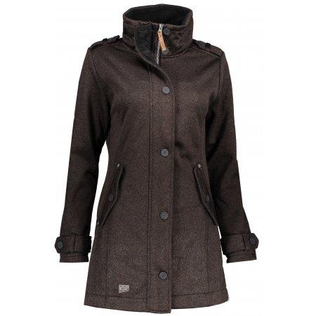 Dámský softshellový kabát NORDBLANC PALATIAL NBWSL6598 TMAVĚ HNĚDÁ