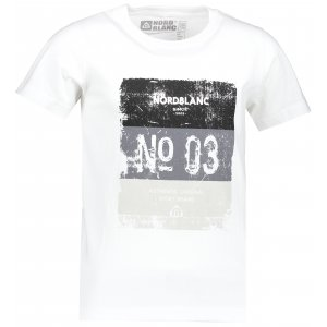 Chlapecké tričko NORDBLANC VARNISH NBSKT6825L BÍLÁ