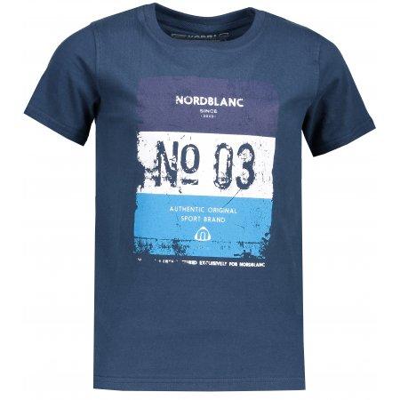 Chlapecké tričko NORDBLANC VARNISH NBSKT6825S MODRÁ HVĚZDA