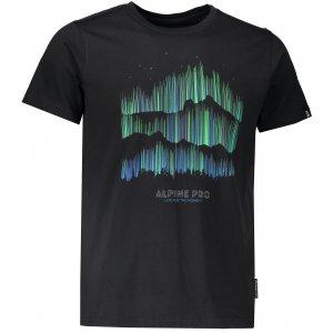 Pánské tričko s krátkým rukávem ALPINE PRO UNEG 5 MTSL255 ČERNÁ