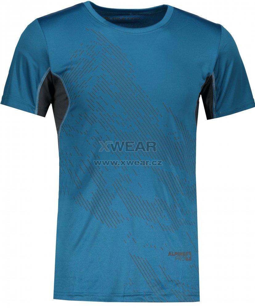 Pánské tričko s krátkým rukávem ALPINE PRO HETT 2 MTSL266 TMAVĚ MODRÁ  velikost  XL   XWEAR.cz fa954f2c62