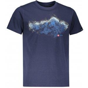 Pánské tričko s krátkým rukávem ALPINE PRO UNEG 5 MTSL255 TMAVĚ MODRÁ