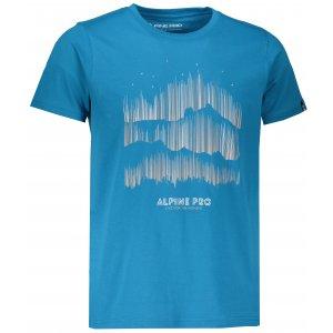 Pánské tričko s krátkým rukávem ALPINE PRO UNEG 5 MTSL255 SVĚTLE MODRÁ