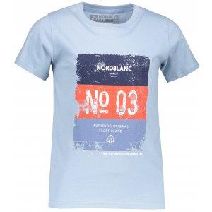 Chlapecké tričko NORDBLANC VARNISH NBSKT6825S MODRÝ SEN