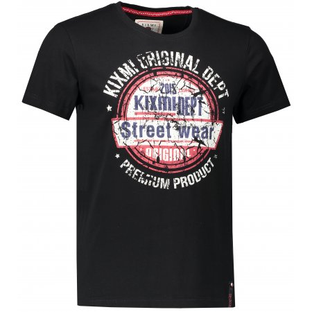 Pánské triko KIXMI EBONIE AAMTS18150 ČERNÁ