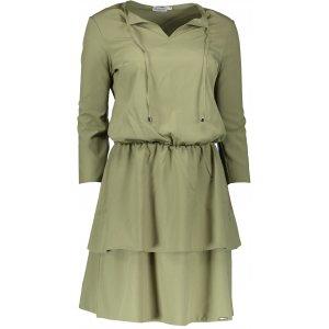 Dámské šaty s volánky NUMOCO A182-1 KHAKI
