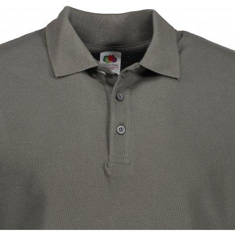 Pánské triko s límečkem FRUIT OF THE LOOM PREMIUM POLO LIGHT GRAPHITE