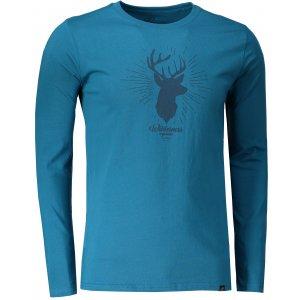 Pánské tričko s dlouhým rukávem HANNAH SKILL BLUE SAPPHIRE PRINT 1