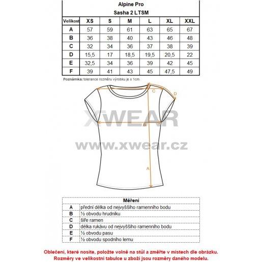 Dámské triko ALPINE PRO SASHA 2 LTSM341 BÍLÁ