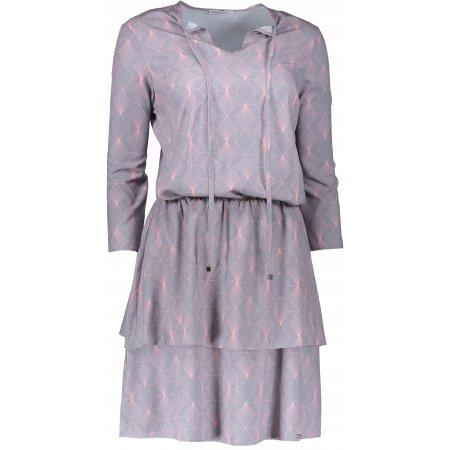 Dámské šaty s volánky NUMOCO A182-2 ŠEDÁ