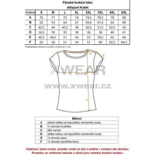 Pánské funkční triko ALTISPORT KOLLET ALMS18077 ČERNÁ