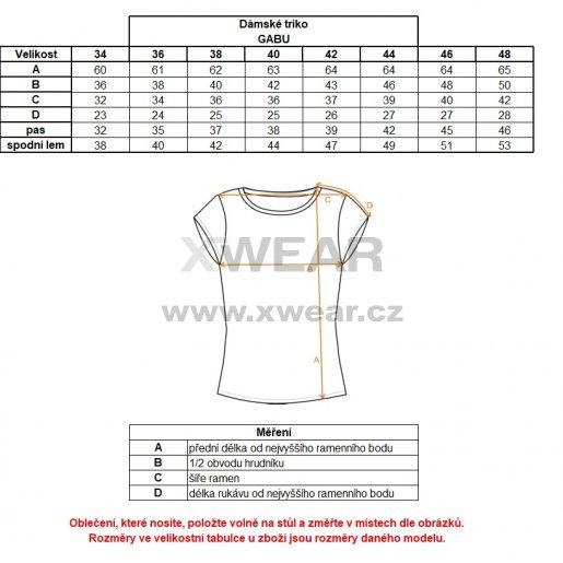 Dámské triko s krátkým rukávem ALTISPORT GABU ALLS18034 ČERNÁ