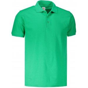 Pánské triko s límečkem FRUIT OF THE LOOM PREMIUM POLO KELLY GREEN