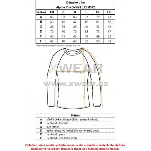 Dámské triko ALPINE PRO DALILA 3 LTSM342 BÍLÁ