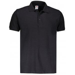 Pánské triko s límečkem FRUIT OF THE LOOM PREMIUM POLO BLACK