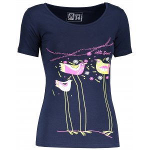 Dámské triko s krátkým rukávem ALTISPORT KAOLA ALLS18035 TMAVĚ MODRÁ