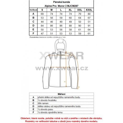 Pánská bunda ALPINE PRO MOROR 3 MJCM287 ČERNÁ