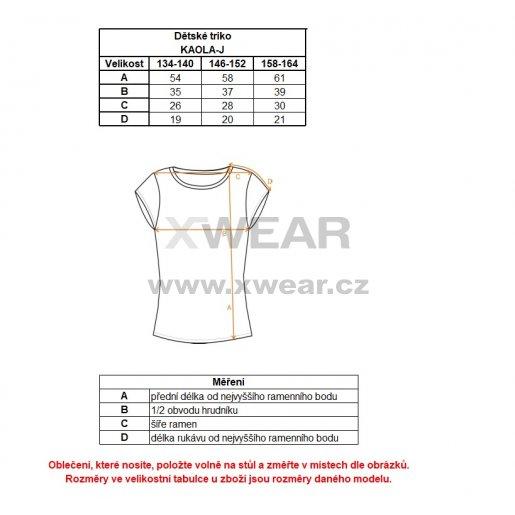 Dívčí triko s krátkým rukávem ALTISPORT KAOLA-J ALJS18035 TMAVĚ MODRÁ