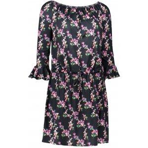 Dámské šaty s volánky NUMOCO A198-3 ČERNÁ